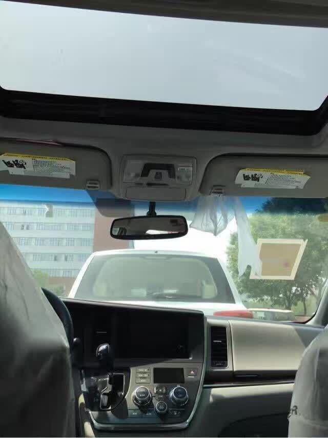 16款丰田塞纳加版电动折叠后视镜实用商务