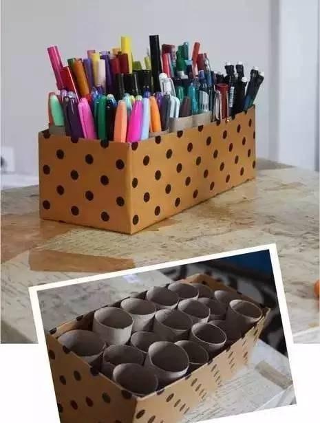 纸芯笔筒的做法步骤图
