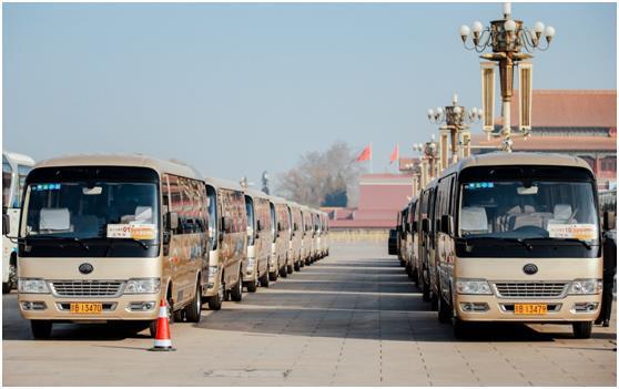 宇通连续16年主力服务全国两会,238辆用车占比近七成