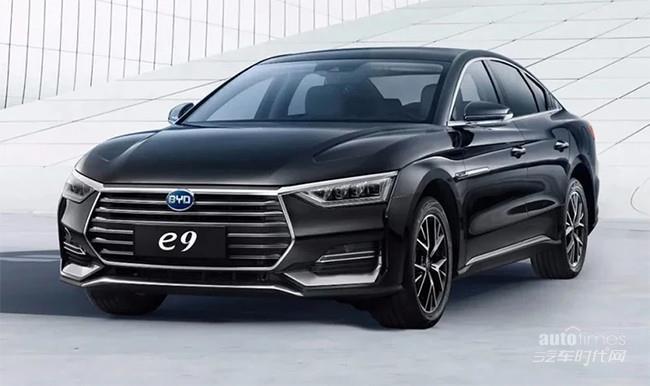 比亚迪纯电动轿车e9正式上市 售价22.98万元